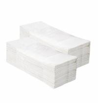 фото: Полотенца бумажные Мерида V-Classic 5000 ПЗР00, листовые, белые, 250шт, 1 слой, 20 пачек