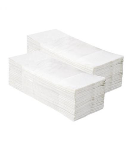 фото: Бумажные полотенца Мерида V-Optimum 3000 PZ33, листовые, белые, 160шт, 2 слоя, 20 пачек