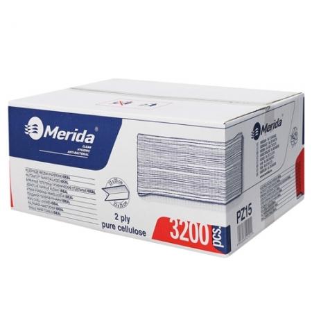 фото: Бумажные полотенца Merida V-Top 3200 PZ15, листовые, белые, 160шт, 2 слоя, 20 пачек