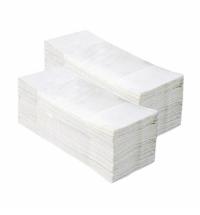 фото: Бумажные полотенца Merida V-Top 4000 БП15, листовые, белые, 200шт, 2 слоя, 20 пачек