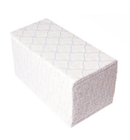 фото: Бумажные полотенца Merida V-Top blue 4000 БП17, листовые, белые с тиснением, 200шт, 2 слоя, 20 пачек
