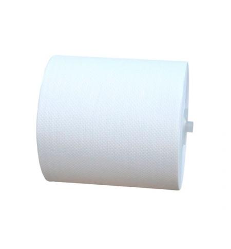 фото: Бумажные полотенца Merida Оптимум Автоматик Макси в рулоне, белые, 240м, 1 слой