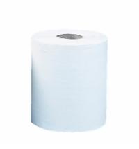 Бумажные полотенца Merida Оптимум Макси в рулоне с центральной вытяжкой, белые, 240м, 1 слой