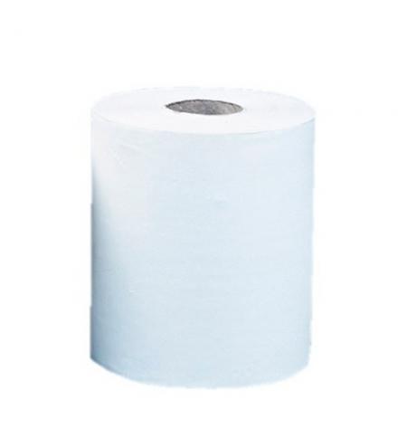 фото: Бумажные полотенца Merida Оптимум Макси в рулоне с центральной вытяжкой, белые, 240м, 1 слой