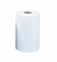 фото: Бумажные полотенца Merida Оптимум Мини в рулоне с центральной вытяжкой, белые, 100м, 1 слой