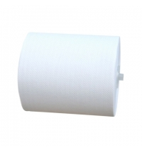 фото: Бумажные полотенца Merida Топ Автоматик Макси белые, в рулоне, 160м, 2 слоя, 6 рулонов