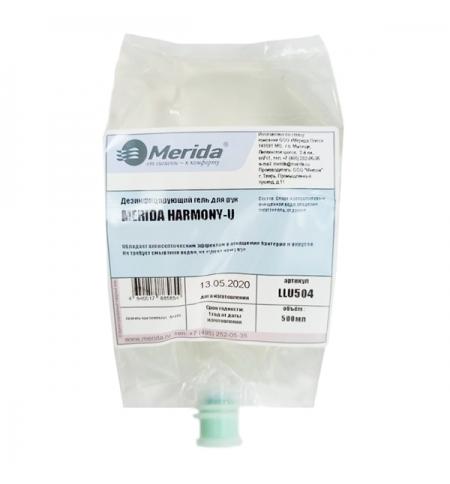 фото: Антисептик в картридже Merida Harmony-U 500мл, для рук, гель, LLU504