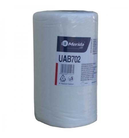 фото: Протирочный материал Merida UAB702, для очистки сильных загрязнений, в рулоне, 45м, белый