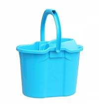 Ведро с отжимом Merida 15.5л, синее, пластик