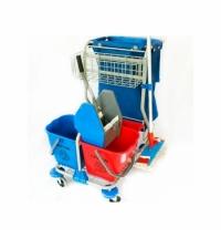 Комплексная тележка Merida 4 ведра, вертикальный отжим, мешок для мусора, HFW214