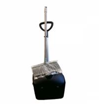 фото: Совок для мусора Merida Economy с закрывающейся крышкой, с ручкой, в комплекте с щеткой, HDD012