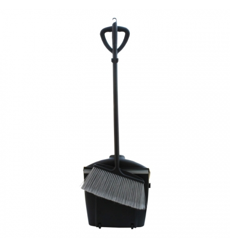 фото: Совок для мусора Merida с закрывающейся крышкой, с ручкой, в комплекте с щеткой, HDD002