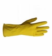 фото: Перчатки резиновые Merida р.L, желтые, с хлопковым напылением
