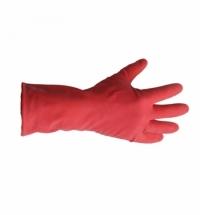 фото: Перчатки резиновые Merida р.L, красные, с хлопковым напылением