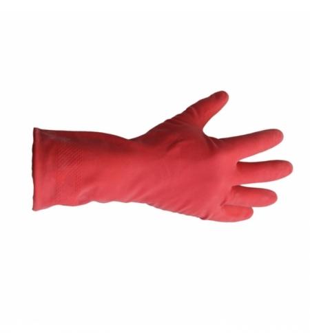 фото: Перчатки резиновые Merida р.M, красные, с хлопковым напылением
