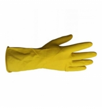 фото: Перчатки резиновые Merida р.XL, желтые, с хлопковым напылением