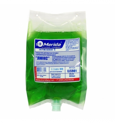 фото: Средство для мытья посуды Merida Harmony-S Люкс LLS901, 800мл, суперконцентрат, в картридже