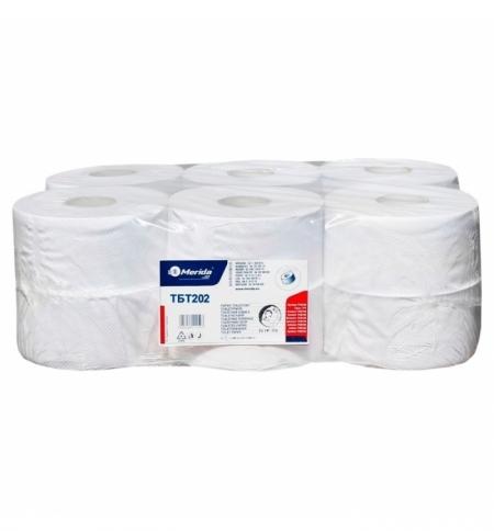 фото: Туалетная бумага Merida Top Mini ТБТ202, белая,, 2 слоя ,170м, 12шт/уп