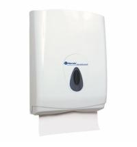 Диспенсер для полотенец листовых Merida Top Maxi PZ1TS, белый/серый