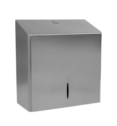 фото: Диспенсер для полотенец листовых Merida Популярный Maxi AQP101, металлический