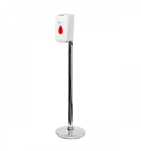фото: Диспенсер для влажных салфеток Merida белый, сенсорный, на мобильной стойке Премиум