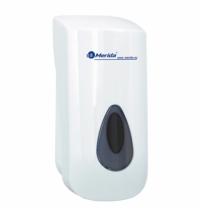 Диспенсер для мыла в картриджах Merida Optimum DF3TS, с 2 картриджами M12P, белый/серый, 700мл