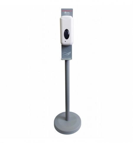 фото: Диспенсер для дезинфицирующего средства Merida Популярный спрей, сенсорный, на мобильной стойке