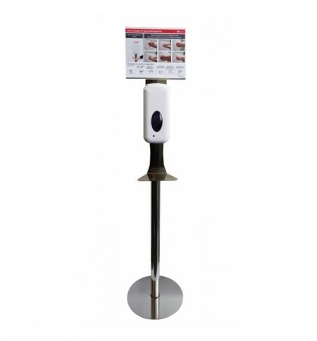 фото: Диспенсер для дезинфицирующего средства Merida Популярный спрей, сенсорный, на мобильной стойке Прем